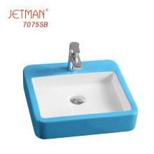 450*420*100 Coloured Bathroom Basins Fancy Wash Basin Design Solid Surface Basin