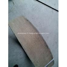 Rouleau de doublure de frein à résine d'amiante
