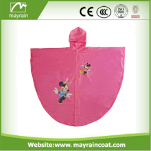 Waterproof Portable Kids PVC Hood Poncho de chuva