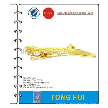 La broche / clip / barre de cravate design bateau / bateau avec placage en or