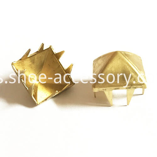 pyramid studs with 8 bendable prongs