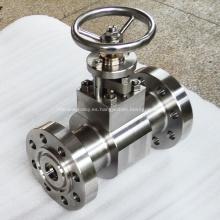 Válvula de globo de aleación Hastelloy de acero forjado