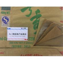 4 + 1 sac de ciment en papier kraft
