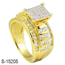 14k Gold Plated Jewelry Silver Ring