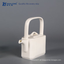Prova de máquina de lavar louça copos de chá branco fino simples xícara de chá branco define dinnerware