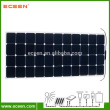130W Sunpower Monokristallines flexibles Sonnenkollektor für Auto