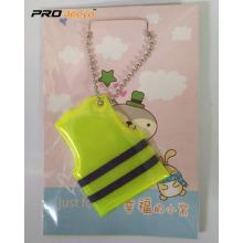 Mobile Phone Reflective Decorative Vest Key Chain