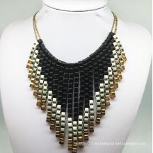 Paiting collar de tejido de cadena de colores (XJW13788)