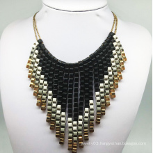 Paiting Colorful Chain Tissue Necklace (XJW13788)