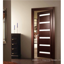 Glazed wooden door for bathroom