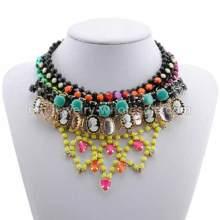 Кап форму акриловой смолы бусы яркие прелести античный партии ожерелье