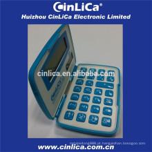 Calculadora de bolso dobrável tamanho do cartão de crédito