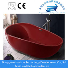 Dark red bathtub acrylic bathtubs