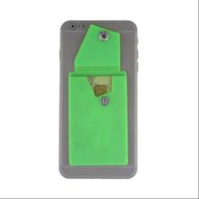 Custom logo silicone rubber business card holder