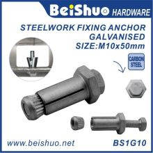 M10X18X50mm Galvanised Anchor Bolt for Steelwork