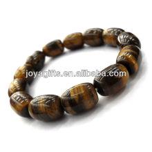 Oval Tigereye Edelstein Perlen Stretch Armband