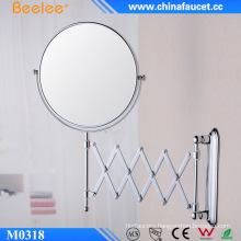 Contemporary Round Adjustable Decorative Magnifying Mirror