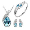 Set de bijoux en argent Blue Topaz Micro Setting 925 en gros