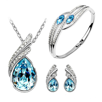 Blue Topaz Micro Set 925 Silver Jewelry Set Wholesales