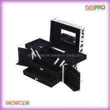 De tamaño medio cosméticos organizador cebra patrón maquillaje cajas (sasc1313)