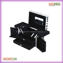 Medium Size Cosmetic Organizer Zebra Pattern Makeup Boxes (SACMC136)