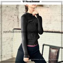 Soem-Großverkauf-kundenspezifische konkurrenzfähige Preis-Frauen-Sport-Jacken