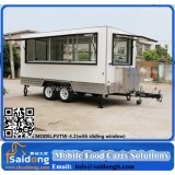 Good type Mobile kitchen trailer, food trailer, fast food sell trailer for sale