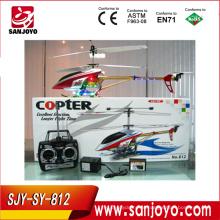 helicóptero real do helicóptero do rc do rc helicóptero da liga 3CH rc com diodo emissor de luz colorido