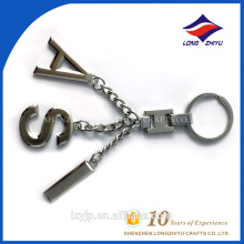 Silber Beschichtung Anhänger Metall Buchstaben AIS Schlüsselanhänger