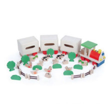 farm element toy animal and plants toy trian