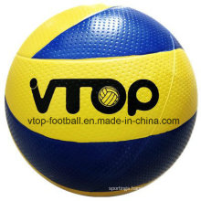 Yellow & Blue High Quality Rubber Material Volleyball for Promotion