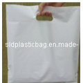 White PE Shopping Bag with Handle for Garment Packaging