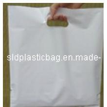 Sac à provisions blanc PE avec poignée pour l'emballage