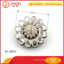 Beautiful flower shape bag lock parts for bag accessories