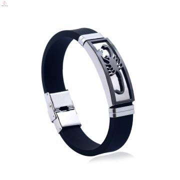 Benutzerdefinierte Männer Schmuck Silizium Edelstahl Skorpion Armband