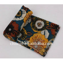 bright-colored print wool scarves shawls
