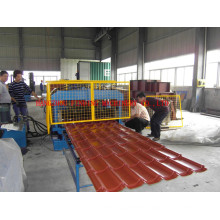 2015 corrugated steel roof tile sheet roll forming machine with PLC control