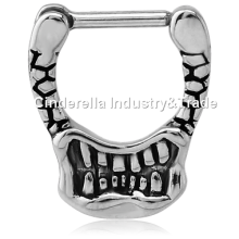 Surgical Steel Kool Katana Septum Clicker Mouth