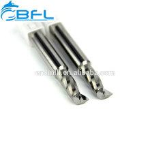 Únicas ferramentas de corte acrílicas da lâmina, Endmill de alumínio da única flauta