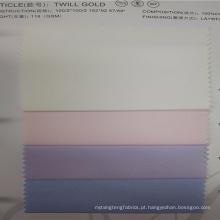 Venda quente rosa e verificar tecido camisa de algodão em estoque