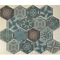 Hexagon Style Full Glass Mosaic