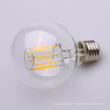 Ampoule molle de filament de l'intense luminosité LED E27 4W G125 LED