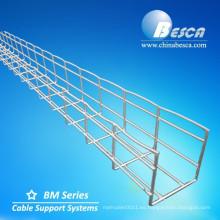 Bandeja de cable de la cesta de alambre del acero inoxidable SS316 / bandeja de cable de la malla de alambre