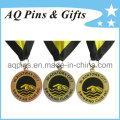Medallas de aleación de zinc con suave color de esmalte para el club de natación