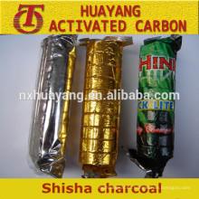 carbón shisha para largas quemaduras y carbonillas ligeras instantáneas
