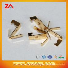 Chapado en oro piezas de estampado de latón