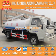 FOTON FORLAND 4x2 LHD/RHD 4000L vacuum fecal suction truck 98hp cheap price