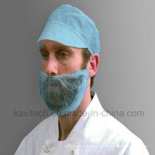 Capa não tecida descartável da barba do Polypropylene