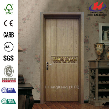 JHK-F01 Lion Cap Carved Paint Wood Interior Door