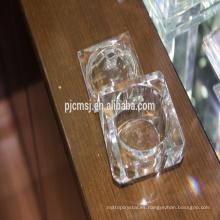 joyero cristalino de la forma cuadrada, caja cristalina del diamante para la señora